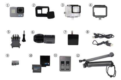 GoPro初心者セット付属品
