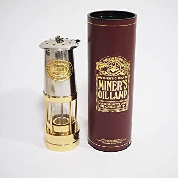 イギリス製 アンティークランプ トーマス&ウィリアムズ Miners Lamp E.Thomas & Williams (Stainless Steel)